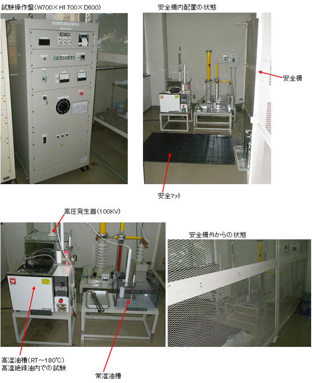 100KV絶縁破壊試験器配置参考写真