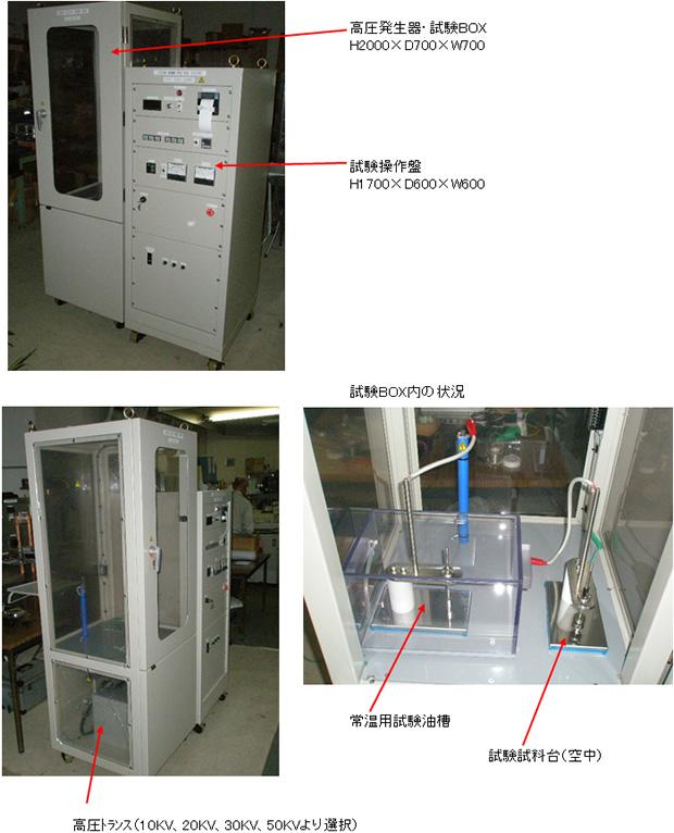 分離型絶縁破壊試験器(試験BOXタイプ)